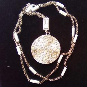 "40"" Rhinestone Pendant Necklace. Beautiful!!"
